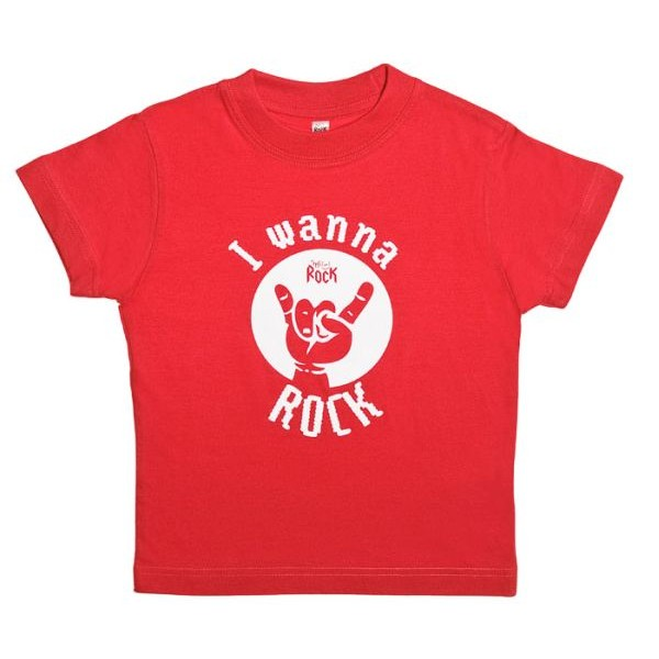 I wanna Rock, tricou copii, rosu